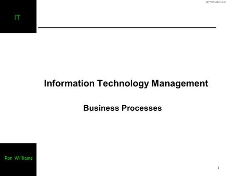Information Technology Management