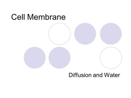 Cell Membrane Diffusion and Water. Membrane structure Made up of Phospholipids, proteins, and carbohydrates The membrane creates the protective outer.