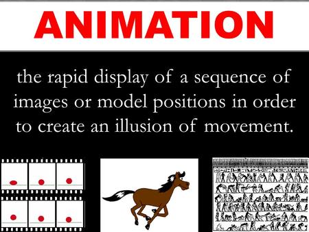 The rapid display of a sequence of images or model positions in order to create an illusion of movement. ANIMATION.