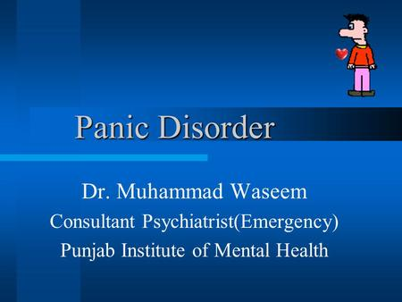 the psychology of panic disorder