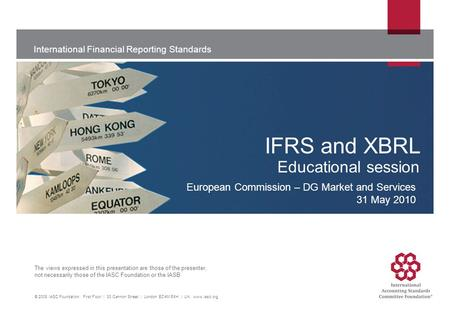 IFRS and XBRL Educational session