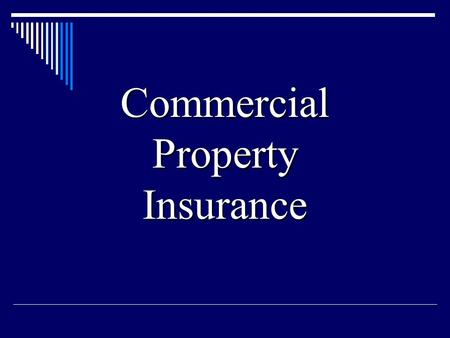Commercial Property Insurance. Under the rules of the Insurance Services Office, each commercial package policy contains: - a common declarations page.