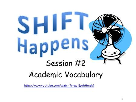 1 Session #2 Academic Vocabulary