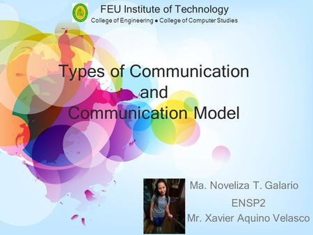 Types of Communication and Communication Model