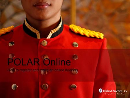 How to register and make an online booking POLAR Online.
