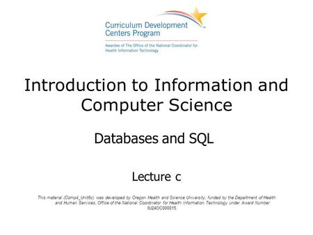 Introduction to Information and <strong>Computer</strong> <strong>Science</strong>