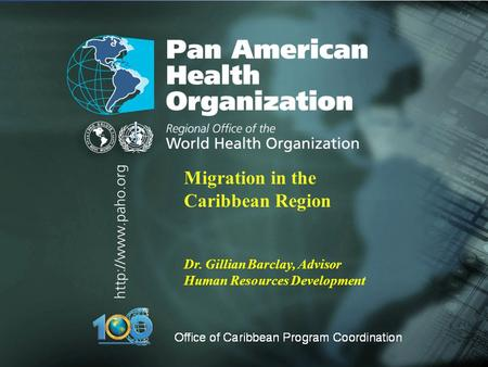 Migration in the Caribbean Region