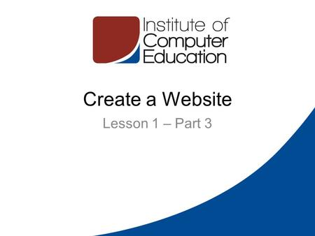 Create a Website Lesson 1 – Part 3. Domain Names 2 Domain names are used to identify one or more IP addresses (213.175.211.12). For example, the domain.
