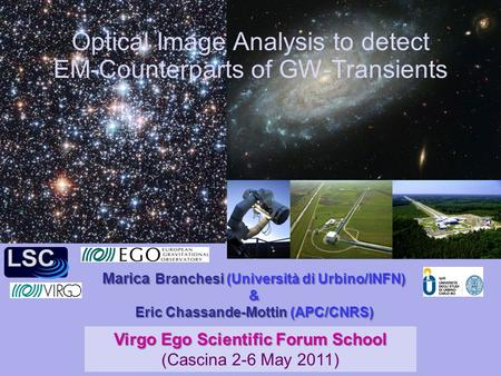 Optical Image Analysis to detect EM-Counterparts of GW-Transients