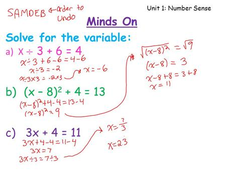 Unit 1: Number Sense Minds On. Unit 1: Number Sense Lesson 6 – Ratio, Rate, Proportion, Percent Learning Goal I can solve problems involving ratios, rate,