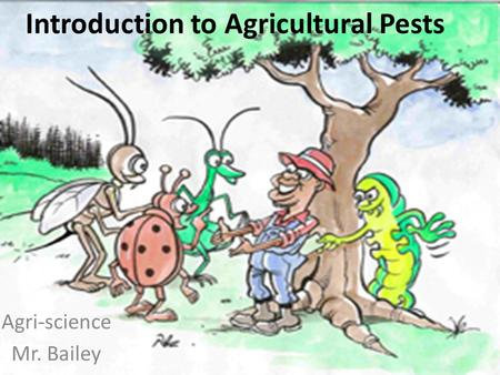 Introduction to Agricultural Pests Agri-science Mr. Bailey.