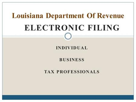 Louisiana Department Of Revenue