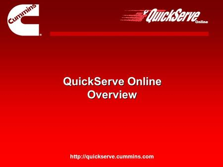 QuickServe Online Overview