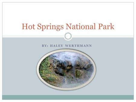 BY: HALEY WERTHMANN Hot Springs National Park. What year did the park become an official national park and why? Hot Springs National Park was made a Hot.