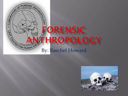 By: Raechel Howard.  Forensic anthropology is the application of the science of physical or biological anthropology to the legal process. Physical or.