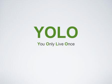 YOLO You Only Live Once. Market Opportunity Disposable Income Largely Single Impulsivity >1/3 U.S. Travel Target Market: Adventure Travel Target Consumer: