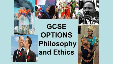 GCSE OPTIONS Philosophy and Ethics. Everybody in the UK has to do some form of EPR until the end of year 11 so even if you do not choose it as an option.