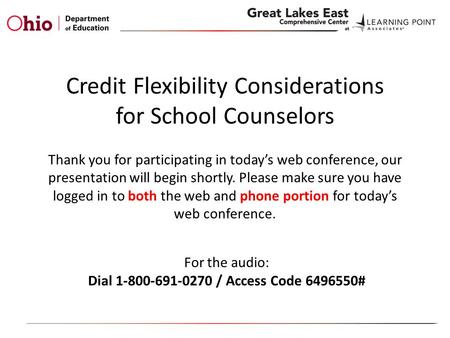 Thank you for participating in today's web conference, our presentation will begin shortly. Please make sure you have logged in to both the web and phone.