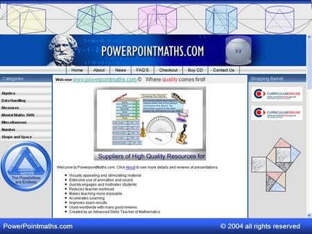 www.powerpointmaths.comwww.powerpointmaths.com © Where quality comes first! PowerPointmaths.com © 2004 all rights reserved.