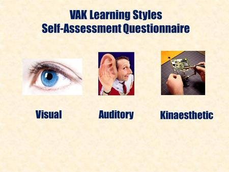 Self-Assessment Questionnaire