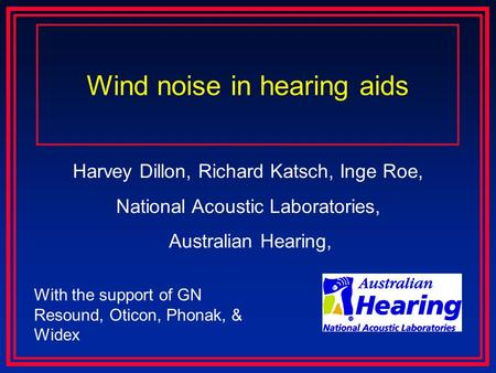 Wind noise in hearing aids