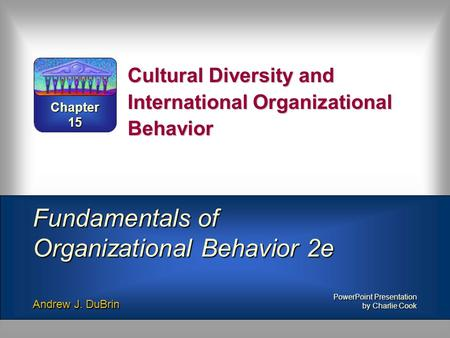Cultural Diversity and International Organizational Behavior