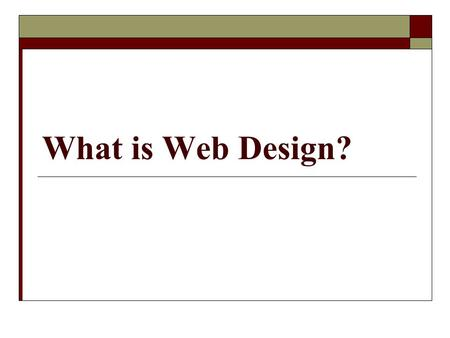 "What is Web Design?. Definition of Web Design  What is Web Design?  Wikipedia: ""Web Design is a skill of creating presentations of content (usually."