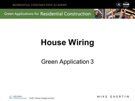 House Wiring Green Application 3.