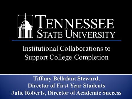Institutional Collaborations to Support College Completion.