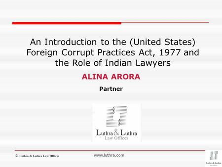 Introduction to United States Law