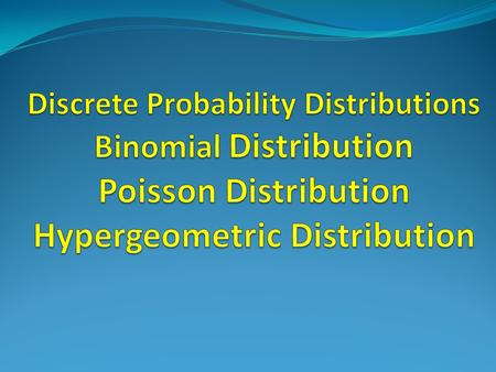 Binomial Probability Formula Binomial Probability Distribution By listing the possible values of x with the corresponding probability of each, we can.