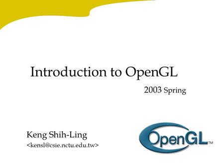 Introduction to OpenGL for Game Programmers