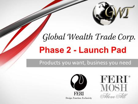 Products you want, business you need Phase 2 - Launch Pad.