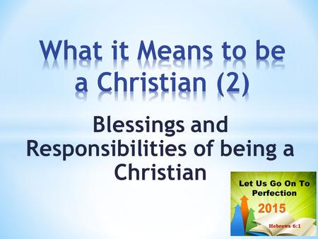 What it Means to be a Christian (2)