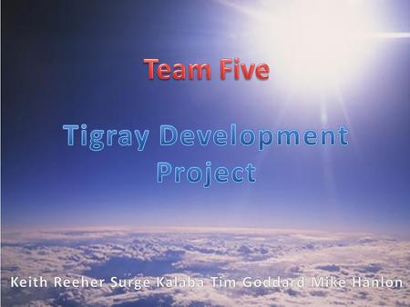 Team Five was approached by GE with the dilemma of providing a reliable cellular phone service to areas with unreliable electric grids, while maintaining.