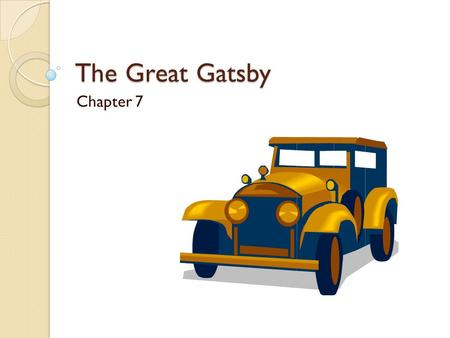 "The Great Gatsby Chapter 7. A couple of contextual asides: ""Trimalchio"" (p. 119) is a character in the Roman novel The Satyricon by Petronius. He is a."