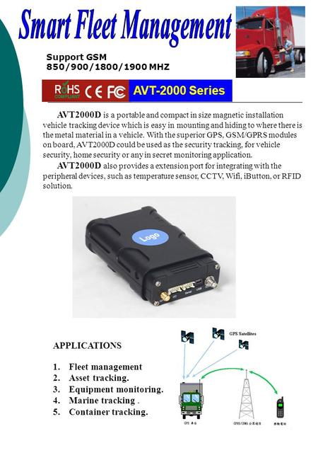 AVT2000D is a portable and compact in size magnetic installation vehicle tracking device which is easy in mounting and hiding to where there is the metal.