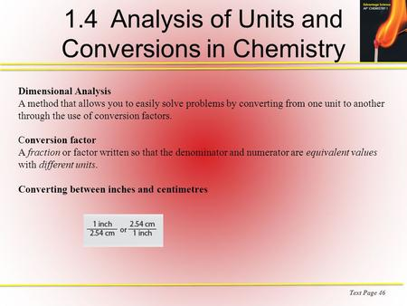 1.4 Analysis of Units and Conversions in Chemistry