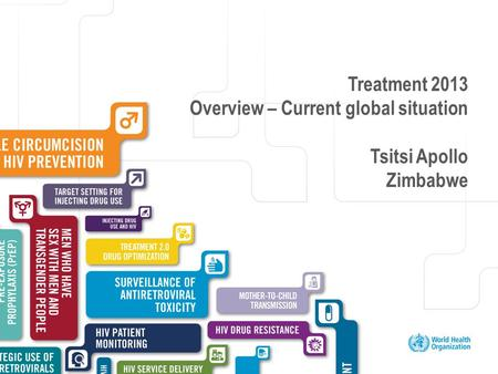 Excellent healthcare – locally delivered Treatment 2013 Overview – Current global situation Tsitsi Apollo Zimbabwe.