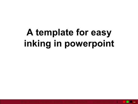 1 BMB teaching initiative: Inking, wireless, capture UMass Amherst A template for easy inking in powerpoint.