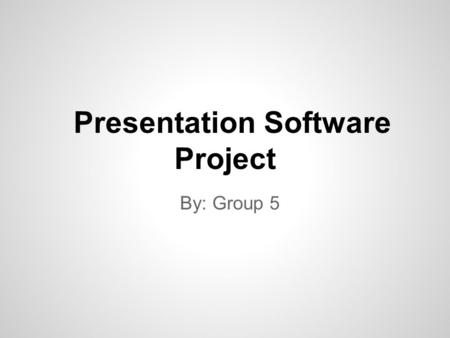 By: Group 5 Presentation Software Project. Google docs is a free web-based program offered by Google It allows users to create and edit documents online.