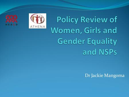 Dr Jackie Mangoma. Gender inequalities: Reflections & Issues (Gender Based Violence)