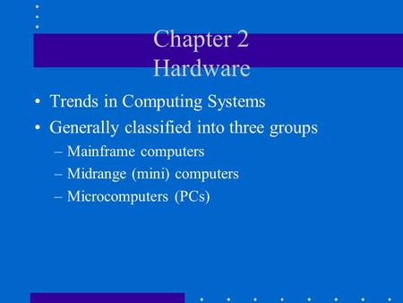 Chapter 2 Hardware Trends in Computing Systems