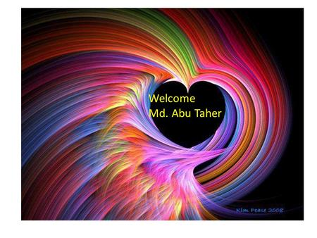 Welcome Md. Abu Taher. Type s of teaching aids Radio T V Picture Visual Audio Audio visual.