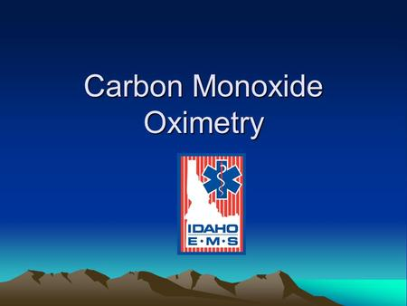 Carbon Monoxide Oximetry