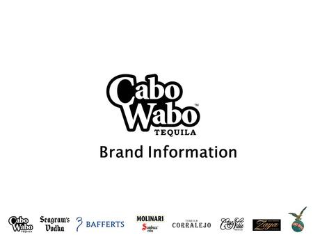 Brand Information. INFINIUM Spirits History: Cabo Wabo Tequila was born from the passion of rock icon Sammy Hagar and his quest for the finest things.