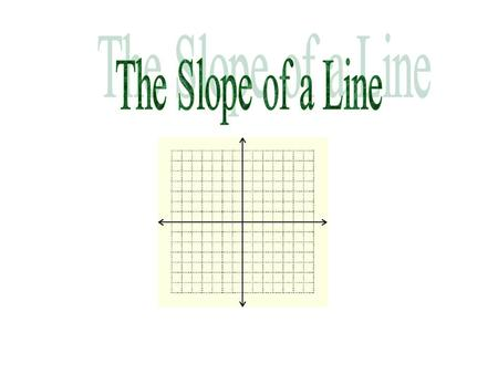 The Slope of a Line.