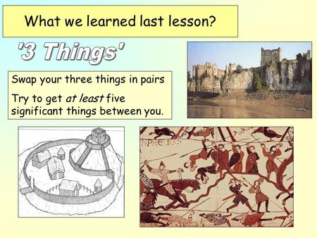 What we learned last lesson?