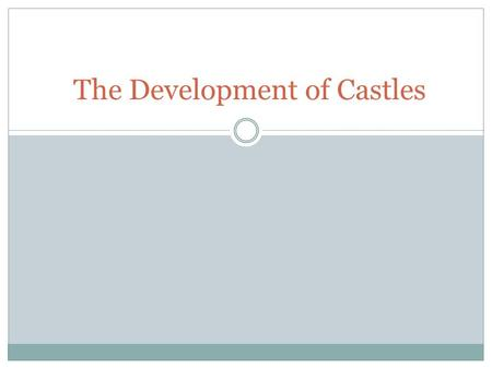 The Development of Castles. Motte and Bailey Castle.