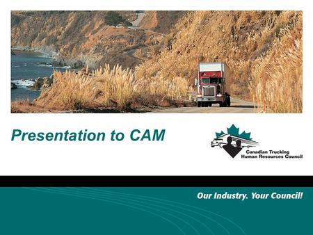 Presentation to CAM. About the CTHRC Ottawa based since 1994 Five full time staff plus consultants and contractors Funded by federal government (HRSDC)